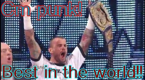 Cm punk!! Best in the world!!!!<3