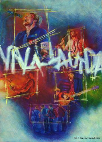 Coldplay karatasi la kupamba ukuta probably containing anime entitled Coldplay ~ Viva La Vida