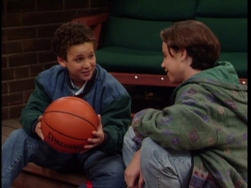 Boy Meets World wallpaper containing a basketball and a dribbler entitled Cory & Shawn
