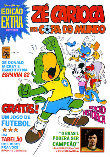 Disney's Ze Carioca- Brazilian Comic Book Cover