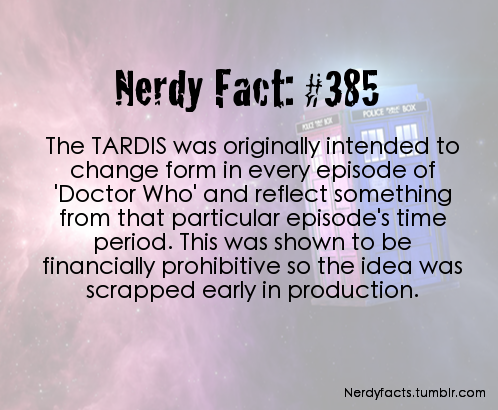 Doctor who nerdy facts