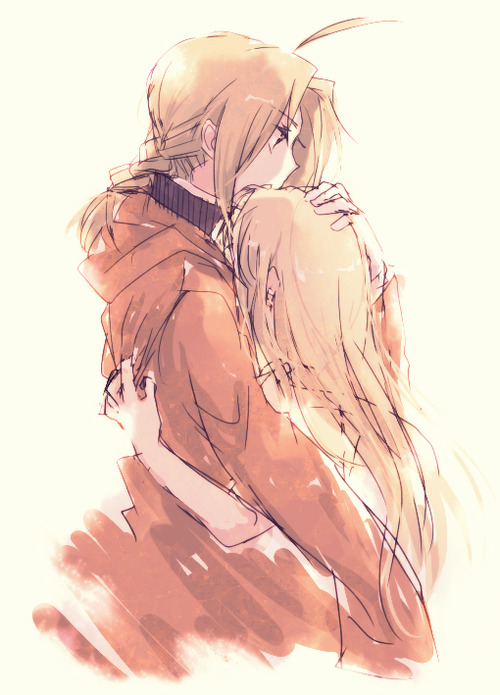 Winry and Ed Kiss http://www.fanpop.com/clubs/edward-elric-and-winry-rockbell/images/33668959/title/edward-winry-fanart