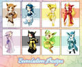 Eeveelution Badges - eevee-evolutions-clan photo
