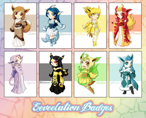Eeveelution Badges
