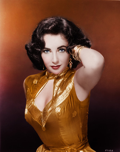 Elizabeth Taylor karatasi la kupamba ukuta probably with a bustier and a chemise entitled Elizabeth Taylor