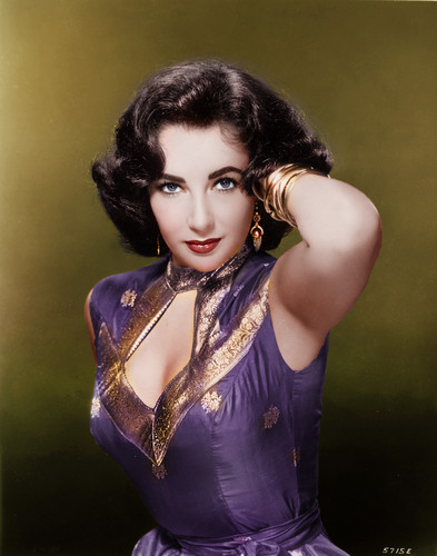 Elizabeth Taylor karatasi la kupamba ukuta probably containing a leotard, tights, and a bustier titled Elizabeth Taylor