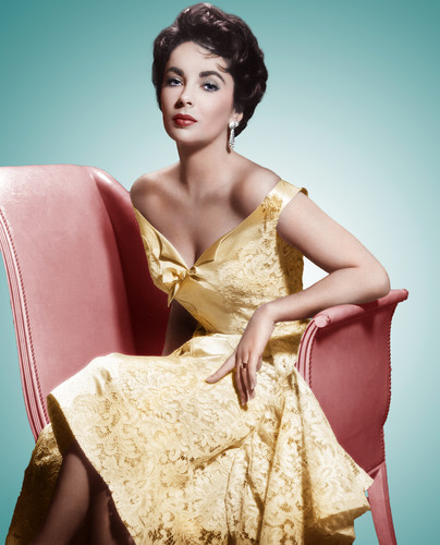 Elizabeth Taylor wallpaper probably with a dinner dress, a gown, and a strapless titled Elizabeth Taylor