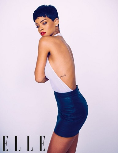 FIRST LOOK AT RIHANNA'S ELLE UK COVER SHOOT