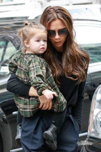 Feb. 13th - NY - Victoria and Harper shoppping for toys