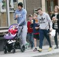 Feb. 18th - London - David and kids out in West London