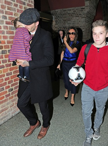 Feb. 18th - London - The Beckhams at St Pancras station