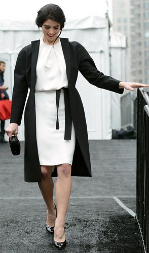 February 11 - Heading to the Kaufman Franco Fall 2013 Show - New York Fashion Week