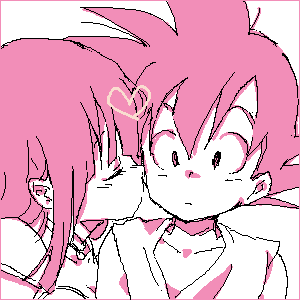 For Valentine's siku ~ Goku X Chichi