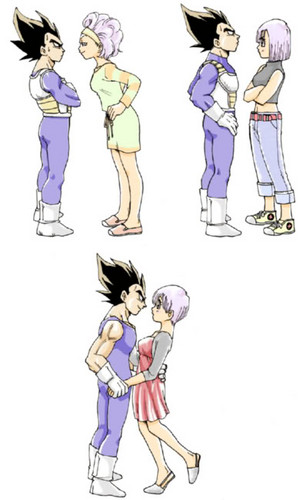 For Valentine's Day ~ Vegeta X Bulma - dragon-ball-females Fan Art