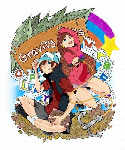 Gravity Falls achtergrond containing anime entitled GF~Fanart