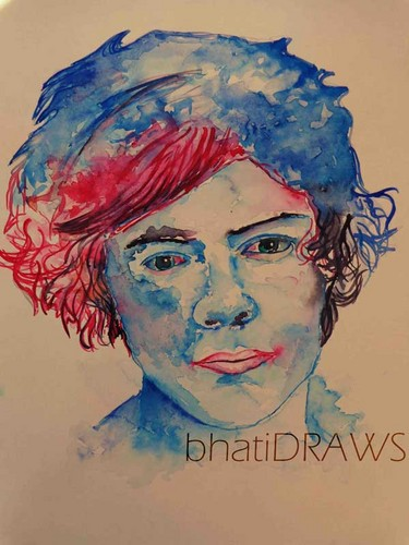 one direction wallpaper entitled Harry Styles Painting