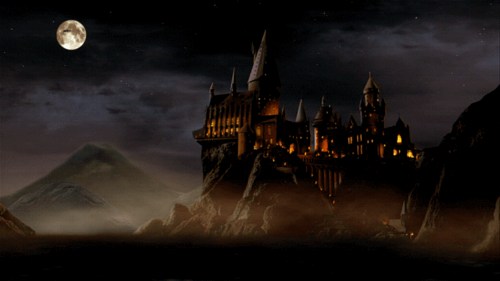 Harry Potter wallpaper possibly containing a fountain and a business district called Hogwarts