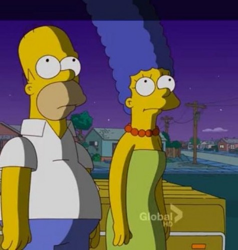 Homer and Marge Shading