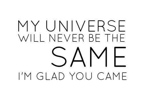 I'm glad あなた came.