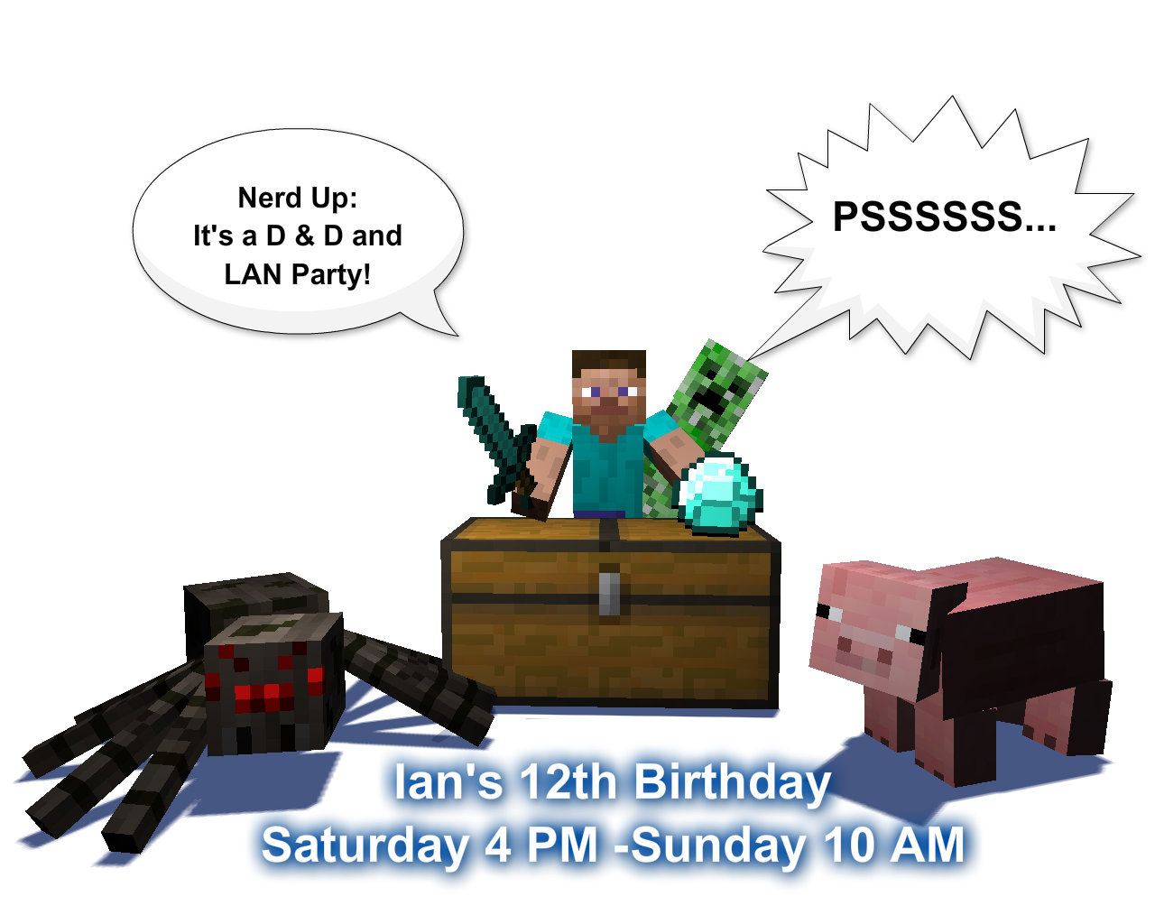 Minecraft Birthday Partyware The I Feel Alive Lifestyle | Party ...