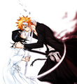 IchiRukiღ - ichigo-and-rukia-sun-and-moon fan art