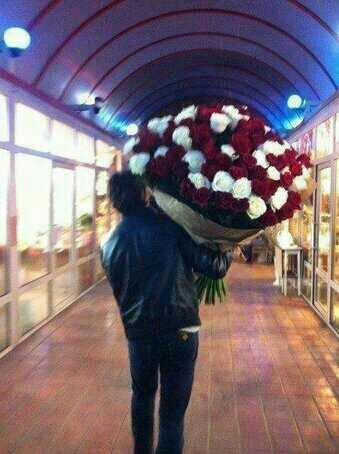 Is that Ian who bought many many rose for Nina !? It looks like him