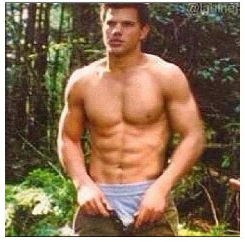 Siri-siri Twilight kertas dinding with a six pack and a hunk titled Jacob Black