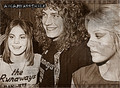 Joan with Cherie Currie and Robert Plant