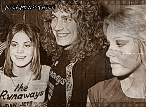 Joan Jett wallpaper titled Joan with Cherie Currie and Robert Plant