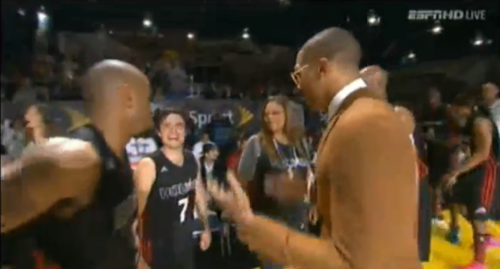 Josh at the All-Star Celebrity Game