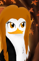 Katherine and autumn leaves - katherine-the-penguin fan art