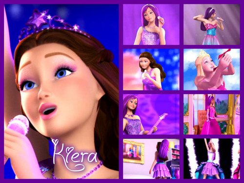 Barbie the Princess and the popstar wallpaper probably containing a portrait entitled Kiera banner