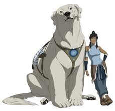 Korra and dog