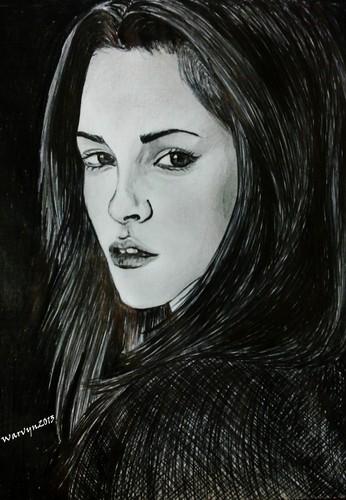 Kristen Stewart Drawing-by-Me