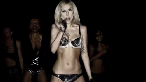vagos club 壁纸 probably containing a brassiere, a bikini, and a 《内衣少女》 called Lady Gaga- Born This Way {Music Video}