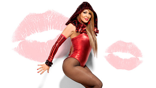 WWE-蕾拉 壁纸 possibly with a leotard, a maillot, and tights entitled Layla