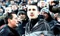 Leonardo Bonucci watching match with the fans