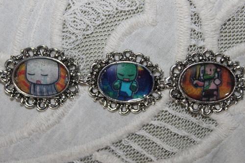 《我的世界》 chibis art bracelet