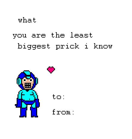 Megaman valentine card