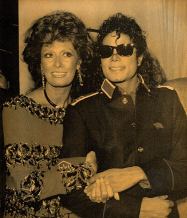 Michael And Good Friend And Actress, Sophia Loren