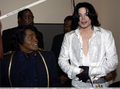 "Michael And Longtime Friend, James Brown Backstage At The 2003 ""BET"" Awards - michael-jackson photo"