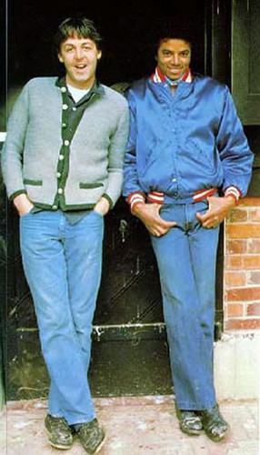 Michael And Paul McCartney Back In 1982