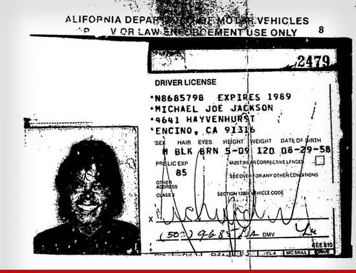 Michael's Old Driver's License
