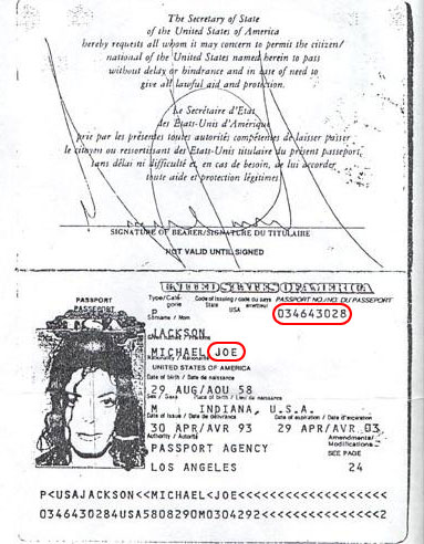 Michael's Passport From 1993