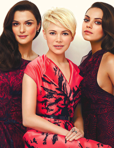 "Michelle Williams, Mila Kunis & Rachel Weisz for ""InStyle"" - (March/2013)"