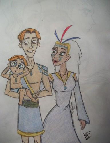 Milo and Kida's family