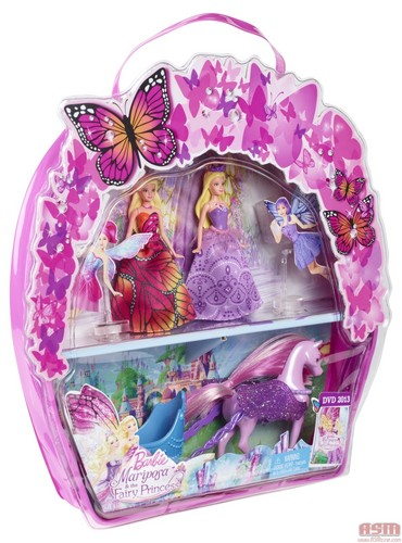 Mini পুতুল of Mariposa and of the Crystal Fairy Princess with the mini carriage in the box (Willa ca