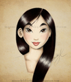 Mulan - childhood-animated-movie-heroines fan art