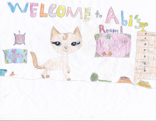My Drawing of My LPS Cat Abigail! :)