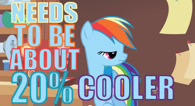 Needs to be about 20% percent cooler!